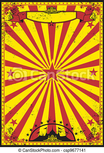 Red and yellow retro circus - csp9677141