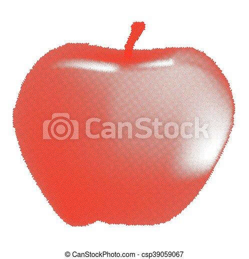 Red Apple Halftone - csp39059067