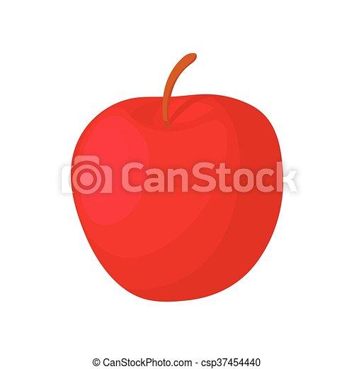 Red apple icon, cartoon style - csp37454440