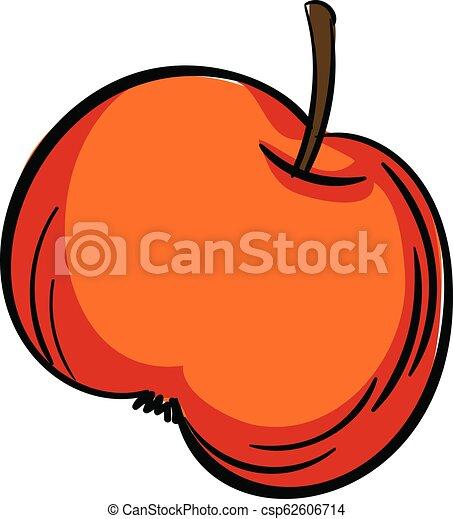 Red apple icon, cartoon style - csp62606714
