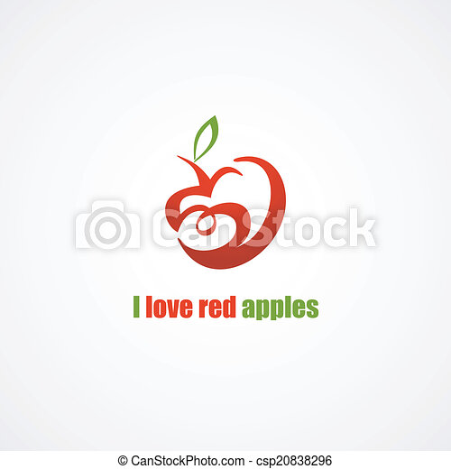 Red apple icon. - csp20838296