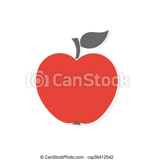 Red apple icon - csp36412542