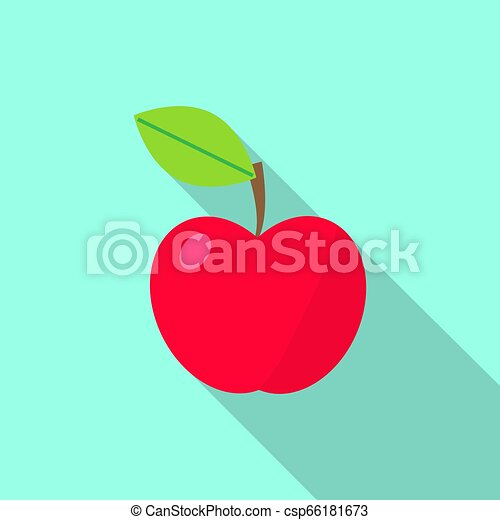 Red apple icon - csp66181673
