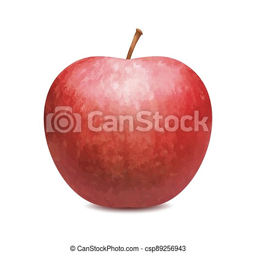 Red apple isolated on white background - csp89256943