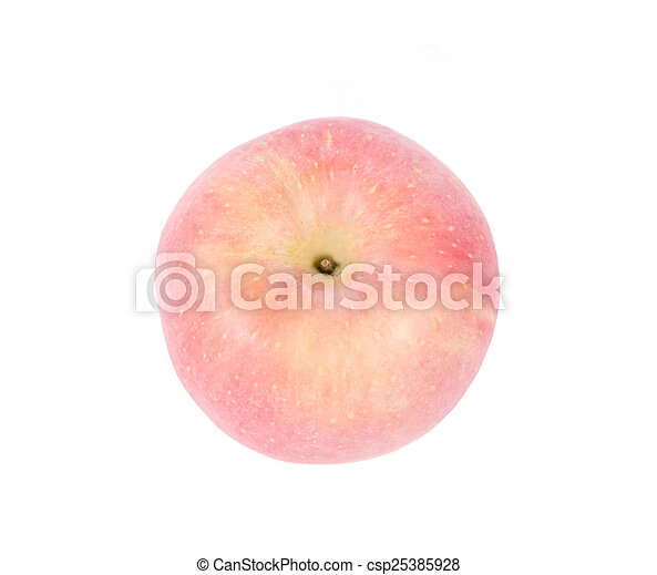 Red apple, isolated on white background - csp25385928