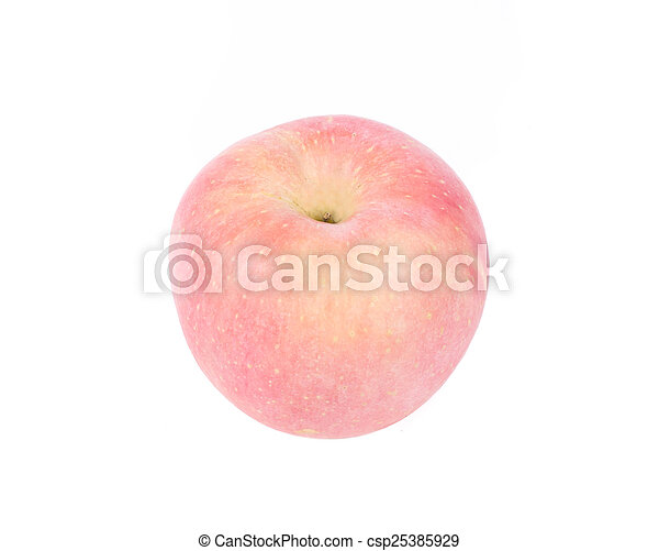 Red apple, isolated on white background - csp25385929