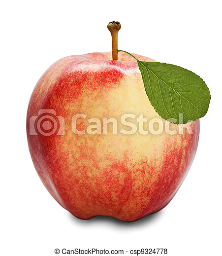 Red apple isolated - csp9324778