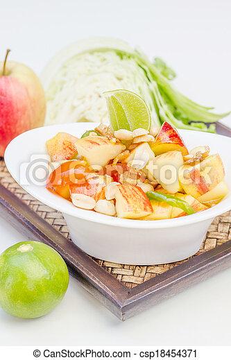 Red apple salad thai food - csp18454371