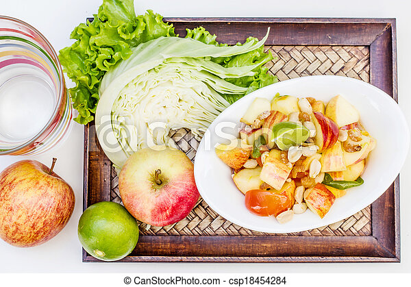 Red apple salad thai food - csp18454284