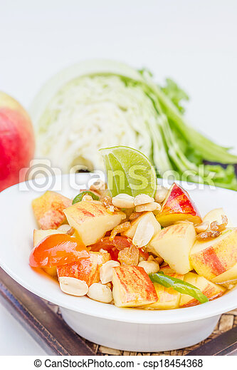 Red apple salad thai food - csp18454368