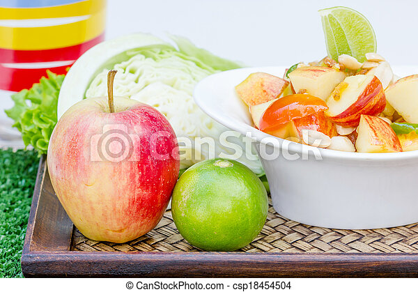 Red apple salad thai food - csp18454504
