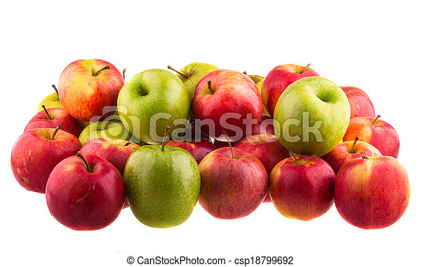 Red apples isolated isolated on white background. - csp18799692