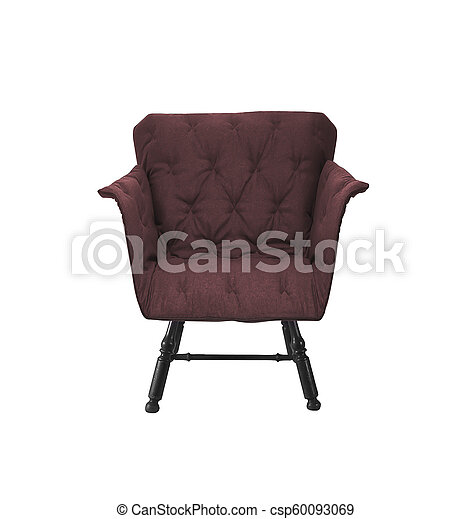 red armchair isolated on white background - csp60093069