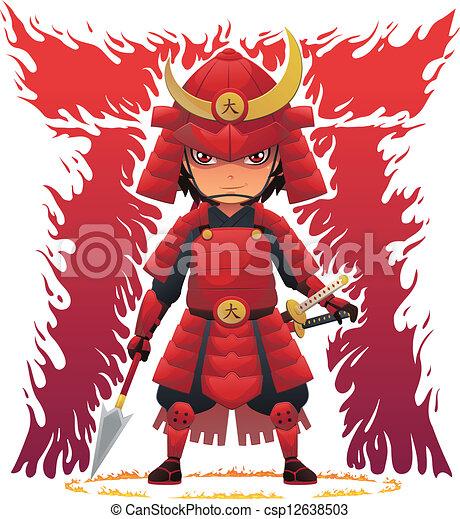 Red Armor Samurai - csp12638503