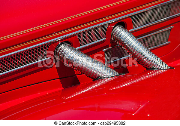 Red automobile exhaust system componen-corrugated pipe - csp29495302