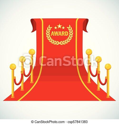 red award carpet - csp57841383