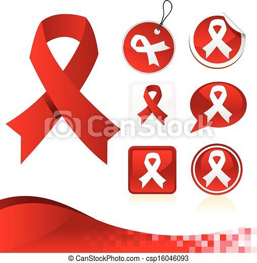 Red Awareness Ribbons Kit - csp16046093