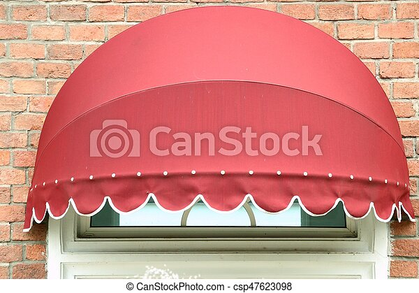 Red awning stock photographs Search Clip Art csp