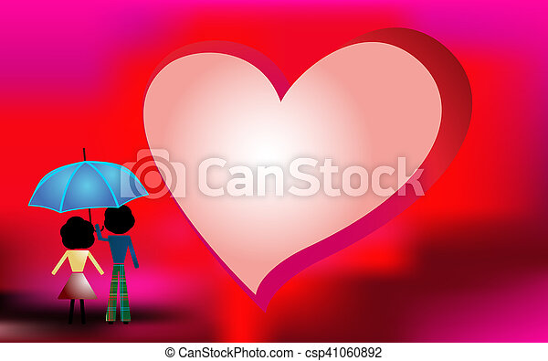 Red background for Valentines Day - csp41060892