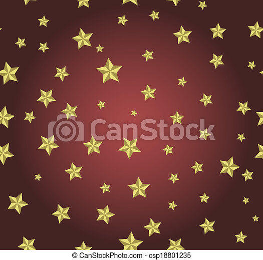 red background with gold stars - csp18801235
