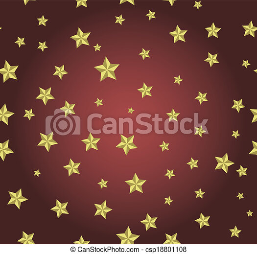 red background with gold stars - csp18801108