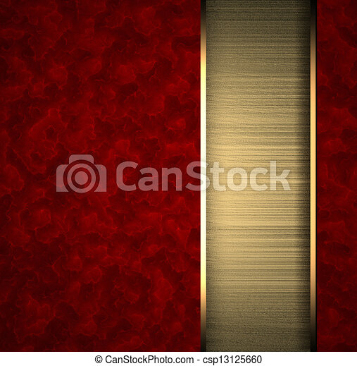 Red background with gold texture stripe layout - csp13125660