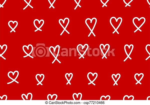 Red background with hearts - csp77210466