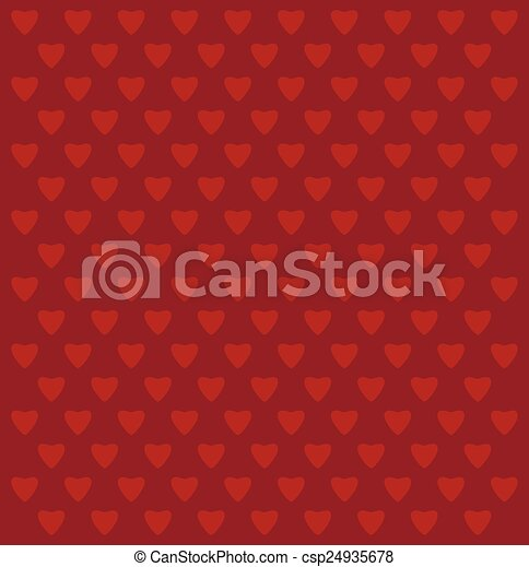 Red background with hearts - csp24935678