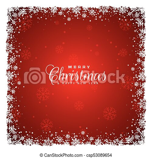 red background with snowflakes design - csp53089654