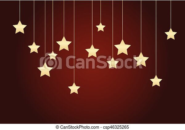 Red background with stars - csp46325265