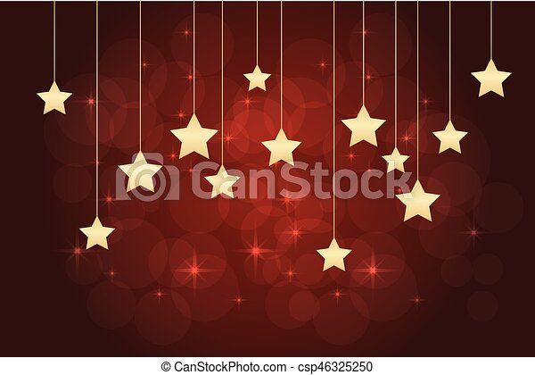 Red background with stars - csp46325250
