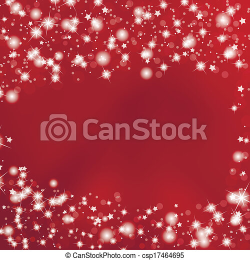 Red Background with Stars - csp17464695