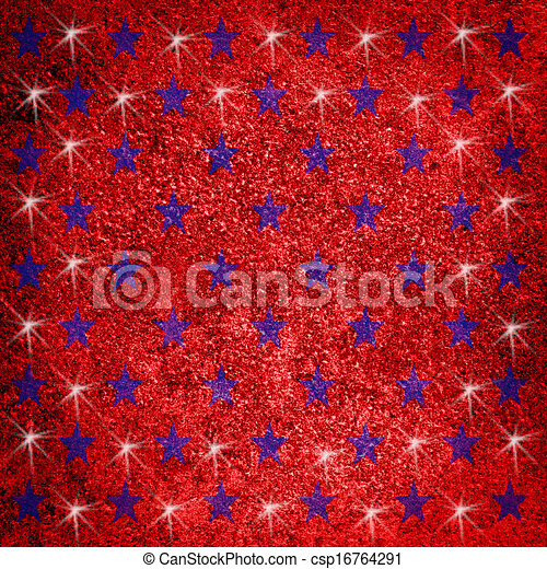 Red background with stars - csp16764291