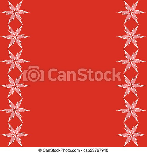 Red background with stars - csp23767948