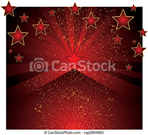 red background with stars - csp2904963