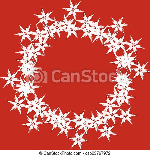 Red background with stars - csp23767972