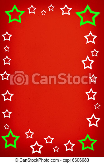 red background with stars - csp16606683