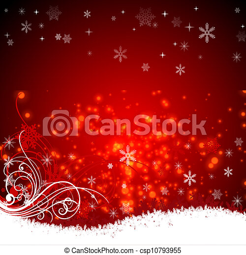 red background with stars - csp10793955