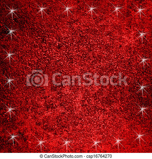 Red background with stars - csp16764270
