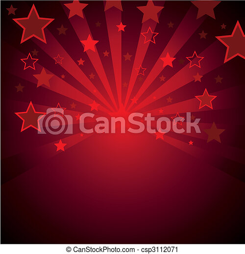 red background with stars - csp3112071
