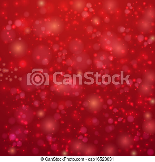 Red background with twinkly lights - csp16523031