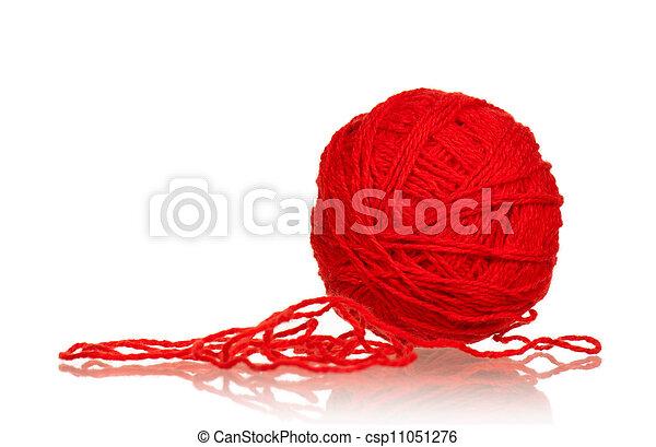 Red ball of yarn - csp11051276