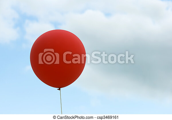 red balloon on sky background - csp3469161