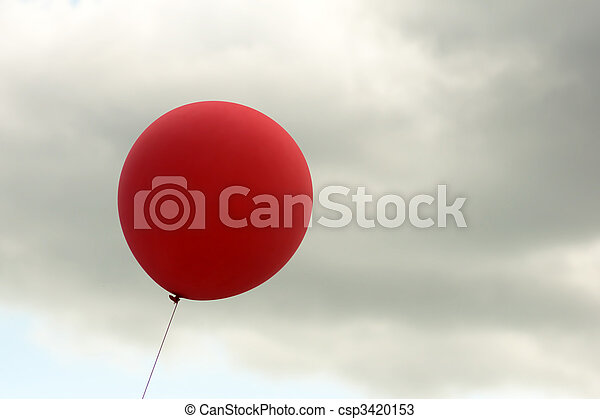 red balloon on sky background - csp3420153