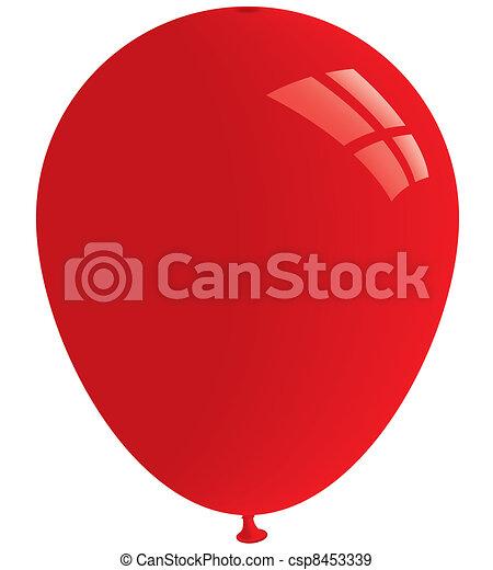 Red balloon. Vector - csp8453339