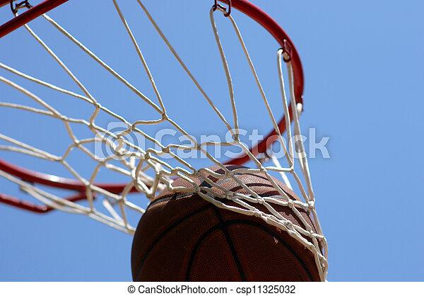 Baloncesto pasando por la red - csp11325032