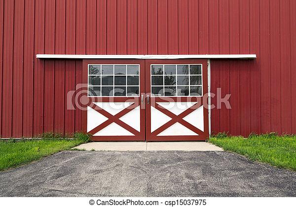 red barn doors clip art. Red Barn Door - Csp15037975 Doors Clip Art W