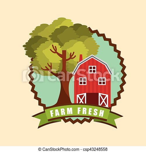 red barn icon - csp43248558
