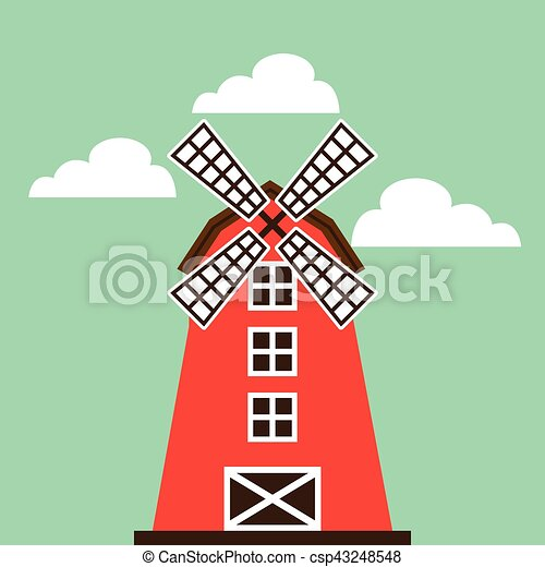 red barn icon - csp43248548