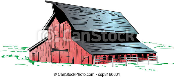Red Barn Illustration Of A Graphic